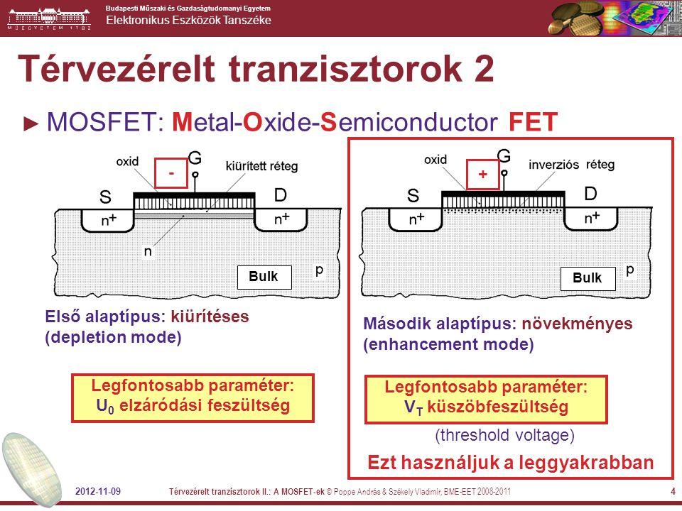 Térvezérelt tranzisztorok 2