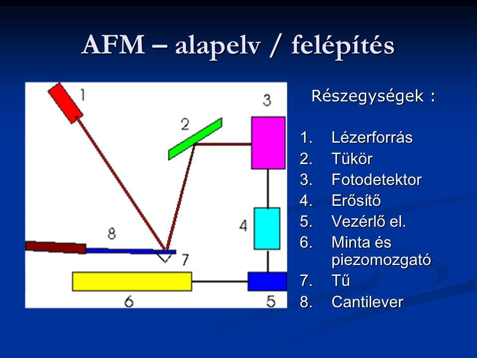 AFM – alapelv / felépítés