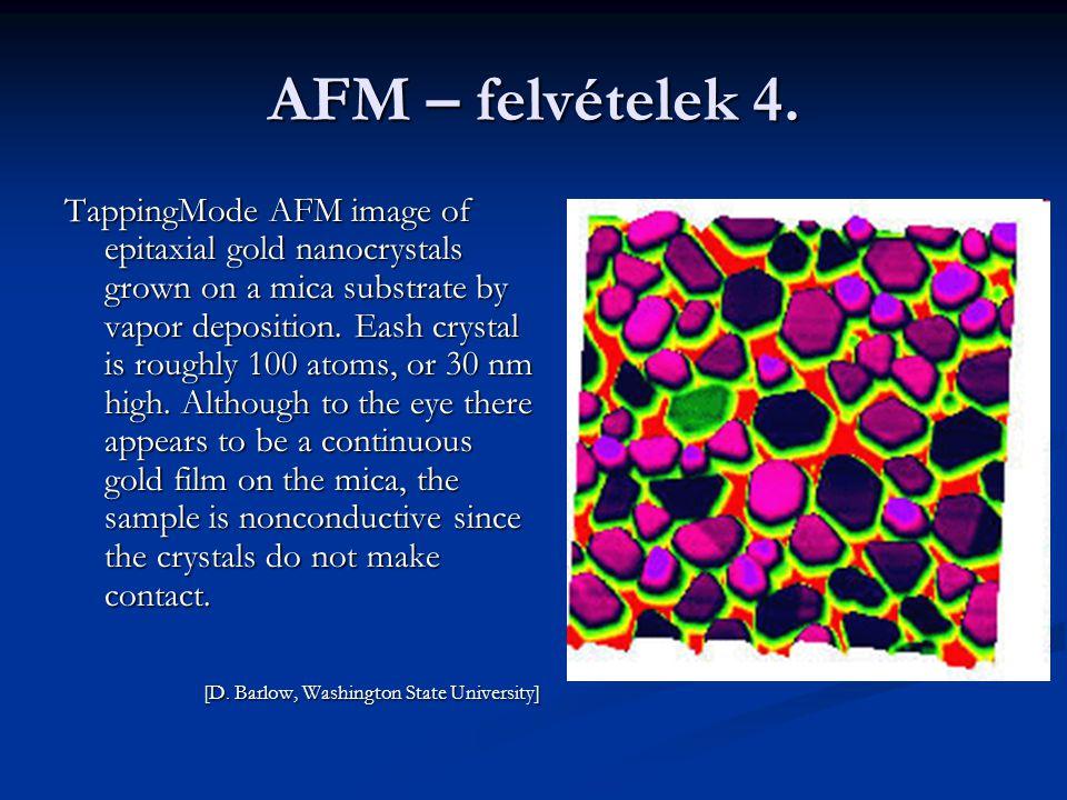 AFM – felvételek 4.