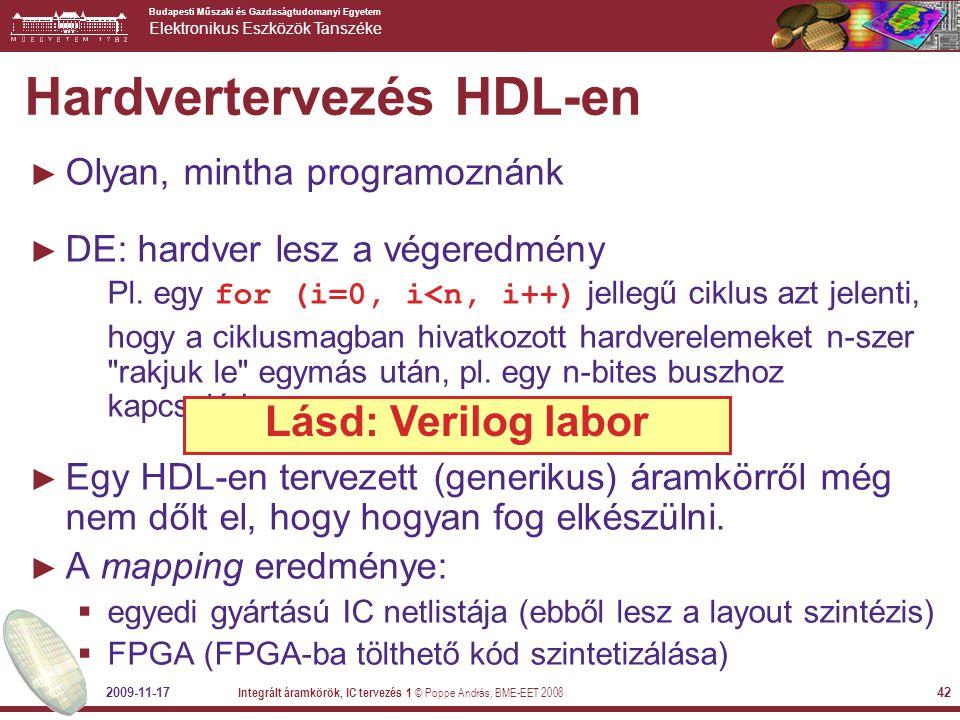 Hardvertervezés HDL-en