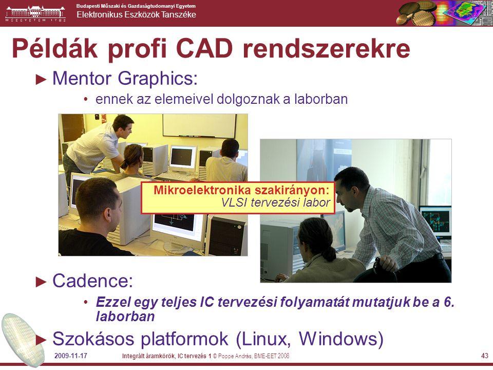 Példák profi CAD rendszerekre