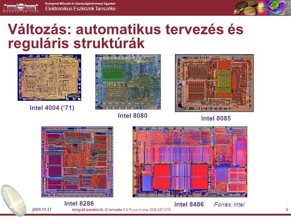 Változás: automatikus tervezés és reguláris struktúrák
