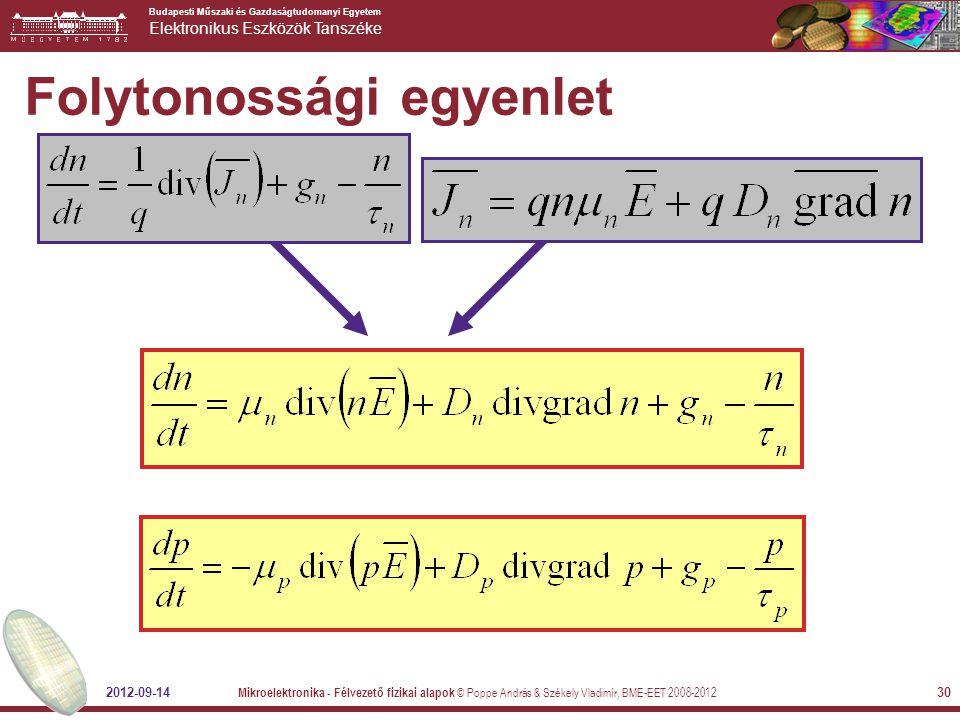 Folytonossági egyenlet
