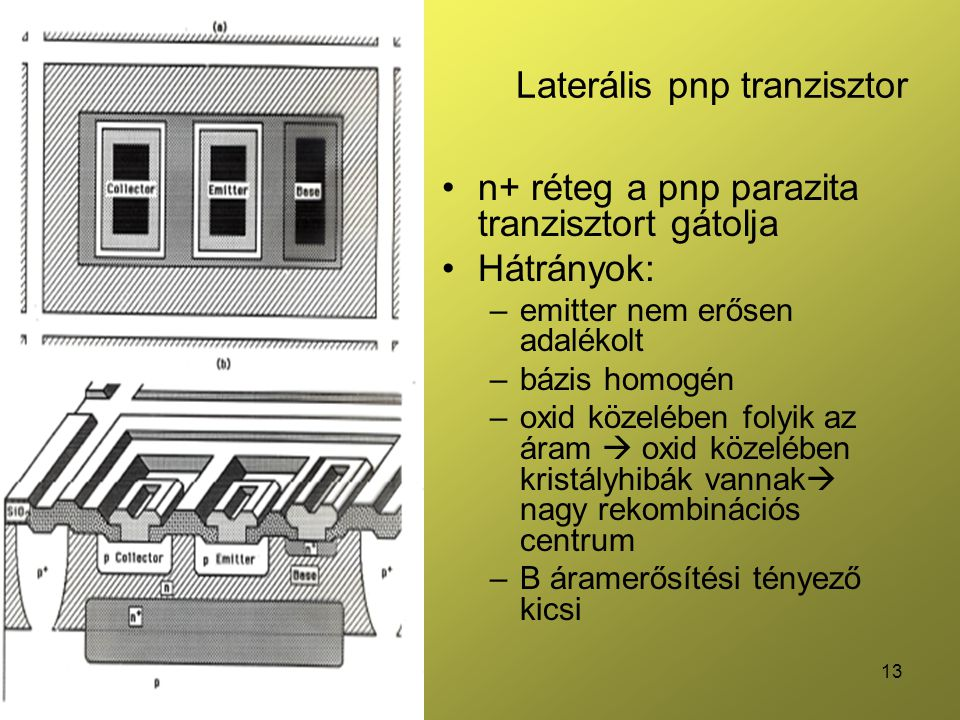 Laterális pnp tranzisztor