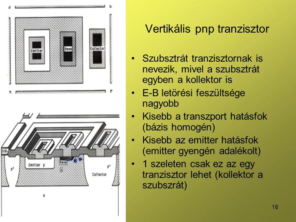 Vertikális pnp tranzisztor