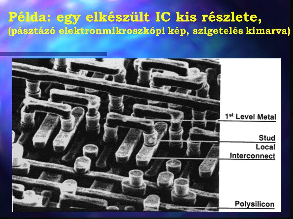 Példa: egy elkészült IC kis részlete,