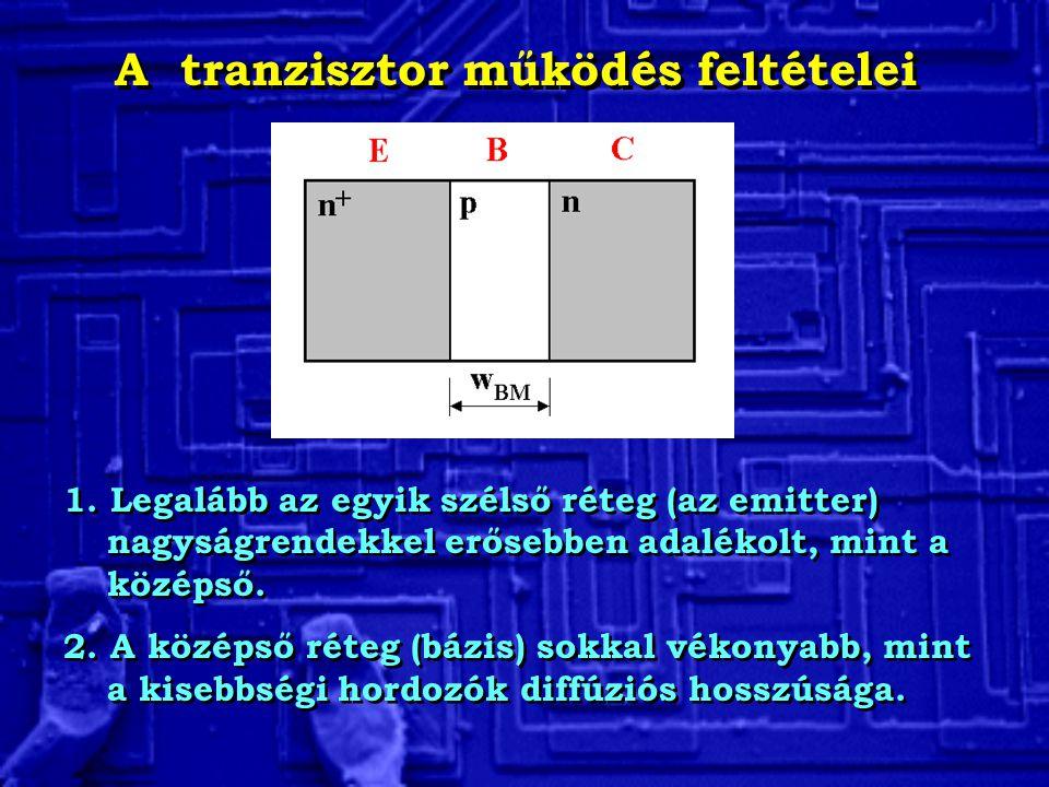 A tranzisztor működés feltételei