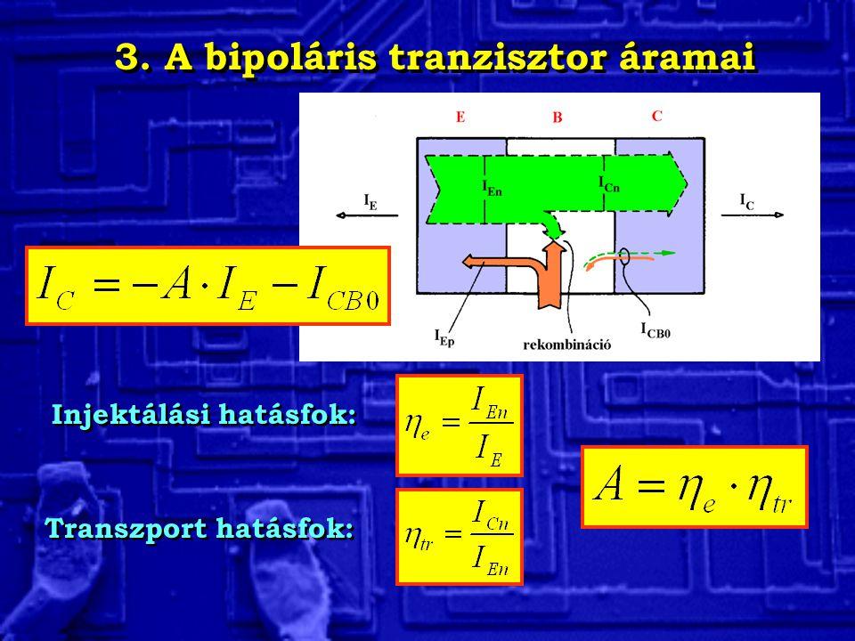 3. A bipoláris tranzisztor áramai