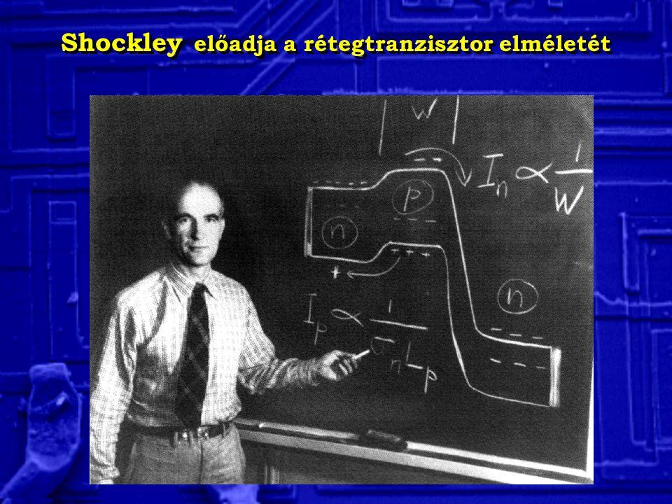 Shockley előadja a rétegtranzisztor elméletét