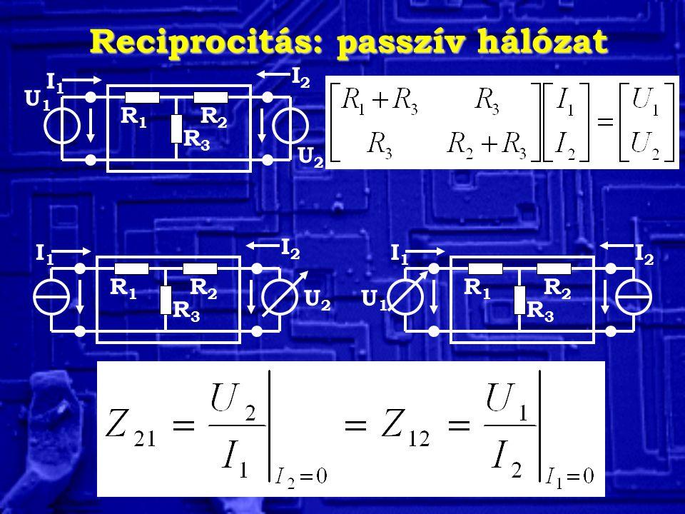 Reciprocitás: passzív hálózat