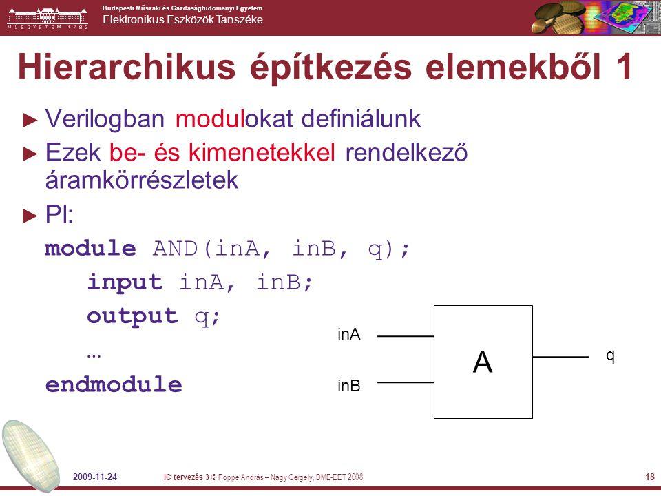Hierarchikus építkezés elemekből 1