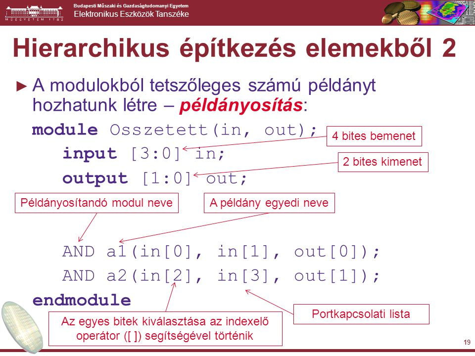 Hierarchikus építkezés elemekből 2