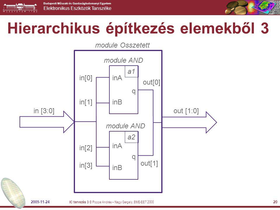 Hierarchikus építkezés elemekből 3