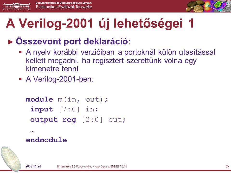 A Verilog-2001 új lehetőségei 1