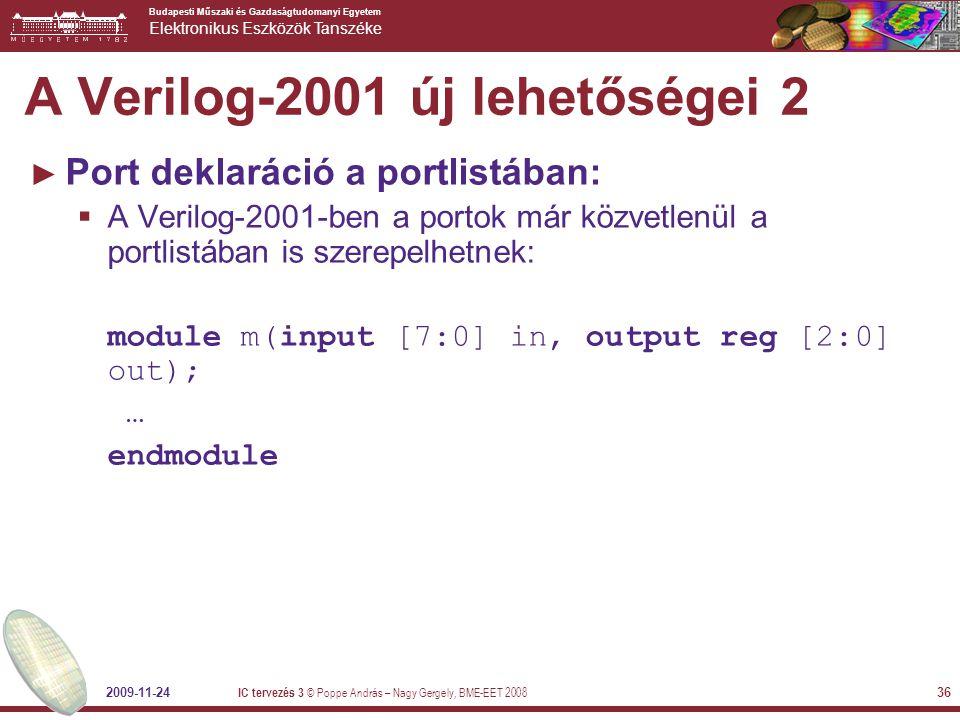 A Verilog-2001 új lehetőségei 2