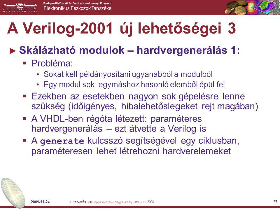 A Verilog-2001 új lehetőségei 3