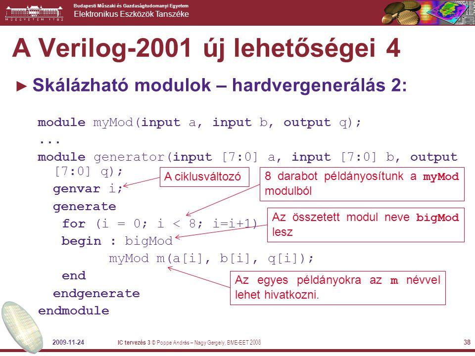 A Verilog-2001 új lehetőségei 4