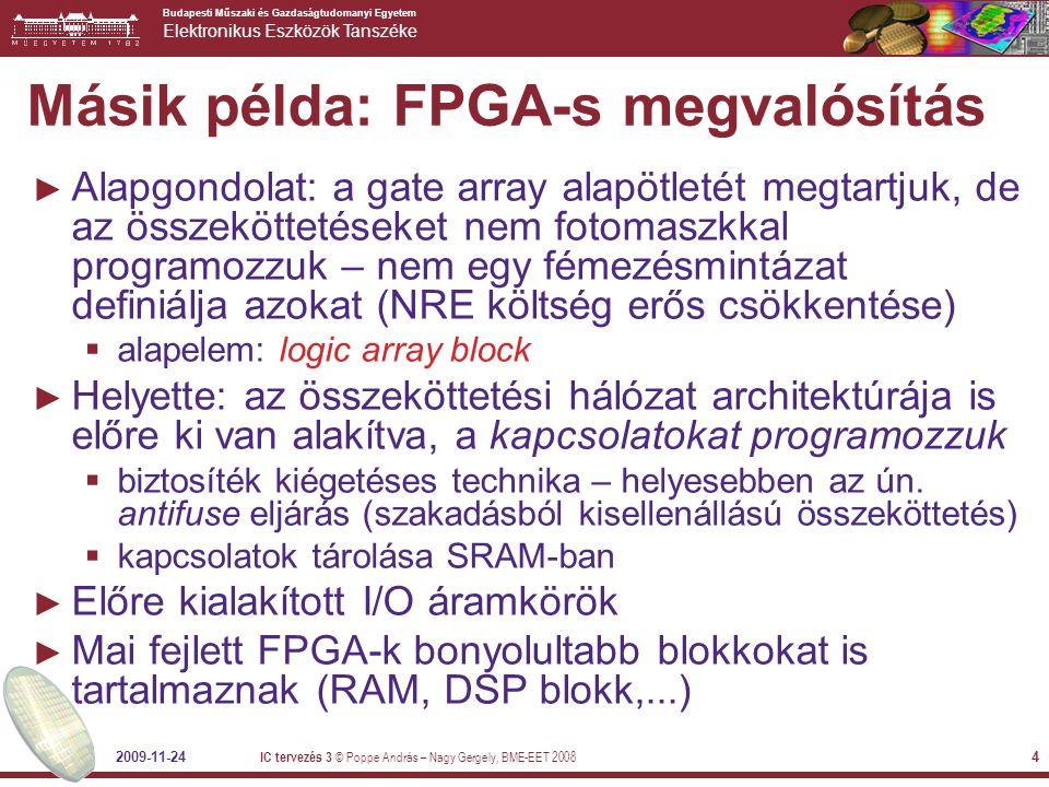 Másik példa: FPGA-s megvalósítás