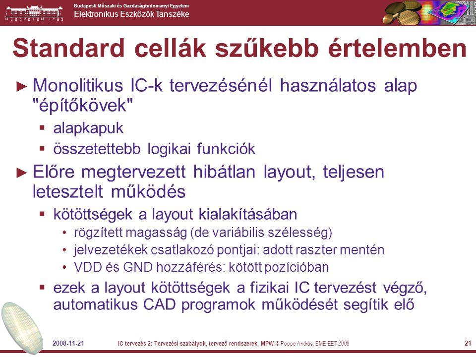 Standard cellák szűkebb értelemben
