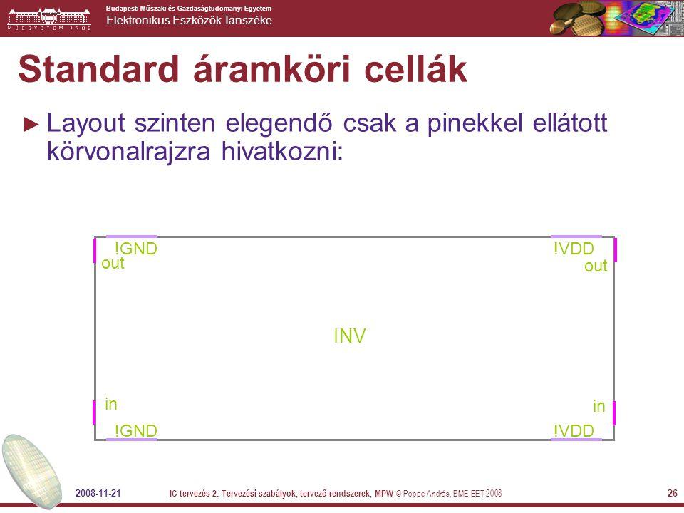 Standard áramköri cellák