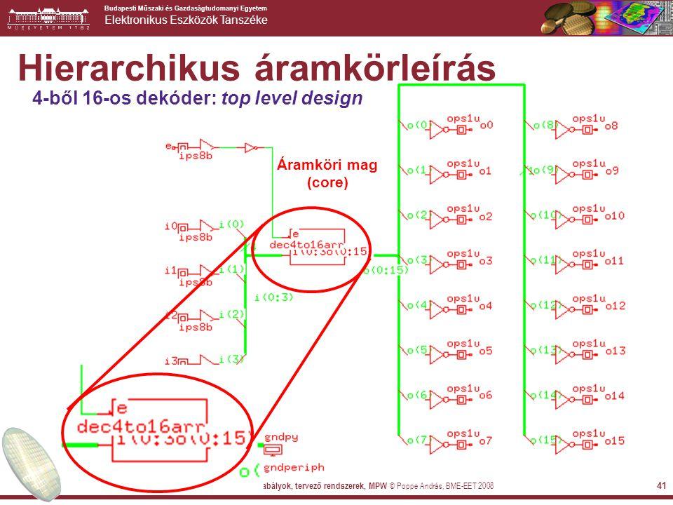 Hierarchikus áramkörleírás