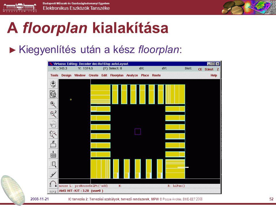 A floorplan kialakítása