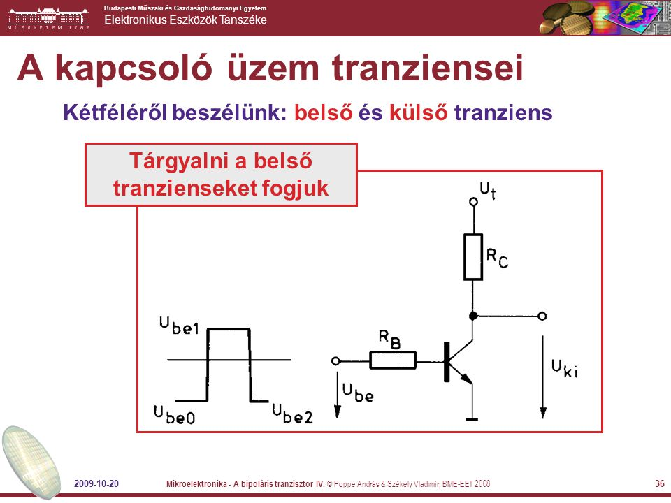 A kapcsoló üzem tranziensei