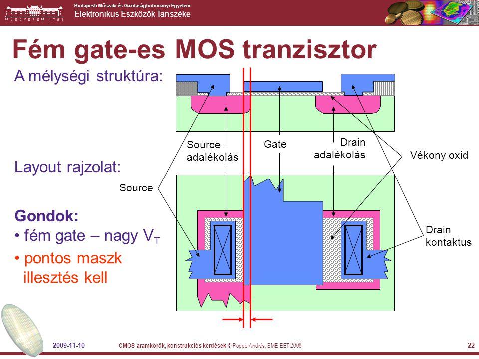 Fém gate-es MOS tranzisztor