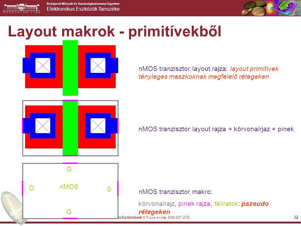Layout makrok - primitívekből