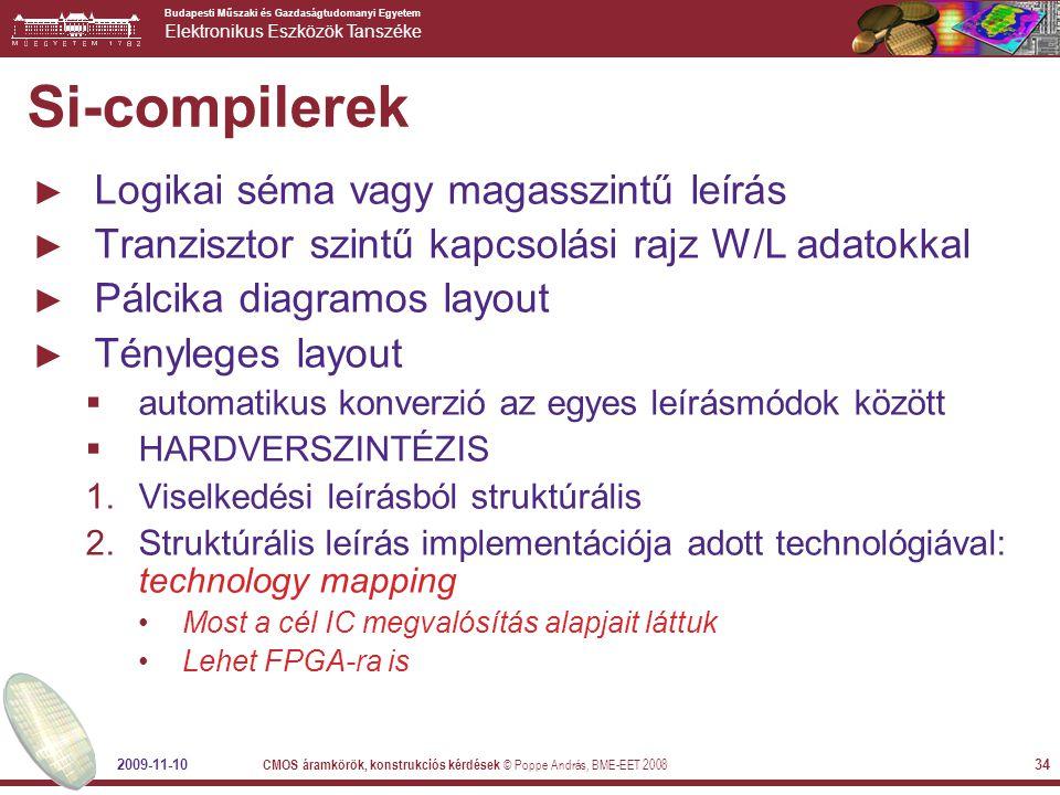Si-compilerek Logikai séma vagy magasszintű leírás