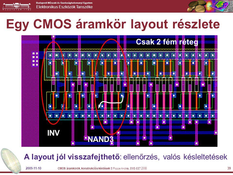 Egy CMOS áramkör layout részlete