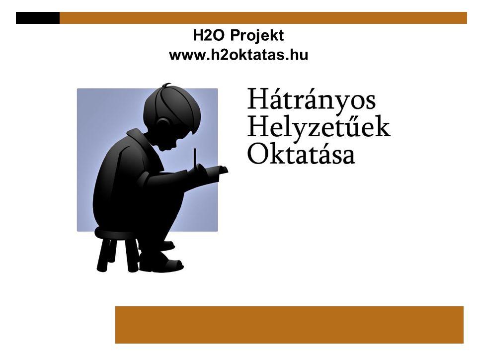 H2O Projekt www.h2oktatas.hu