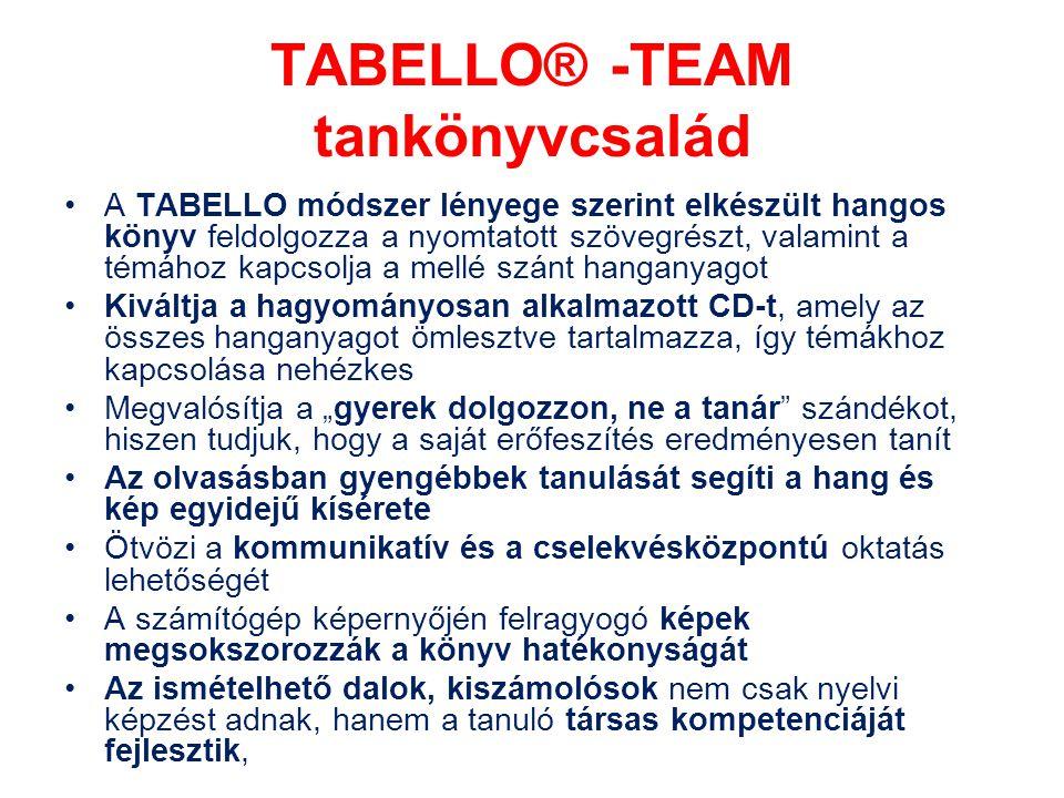 TABELLO® -TEAM tankönyvcsalád