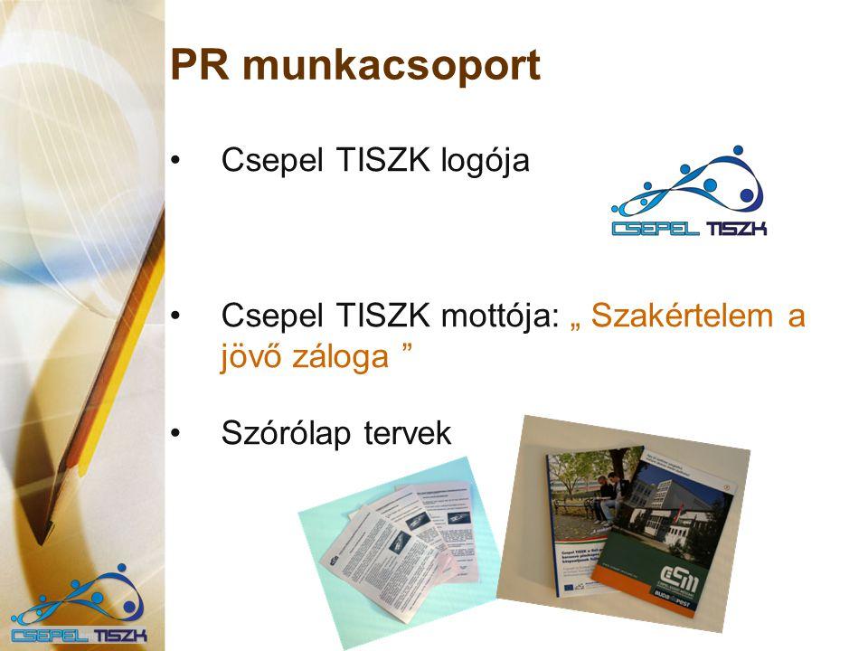 PR munkacsoport Csepel TISZK logója