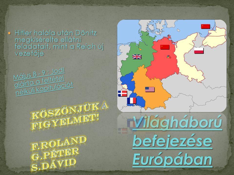 A II. Világháború befejezése Európában