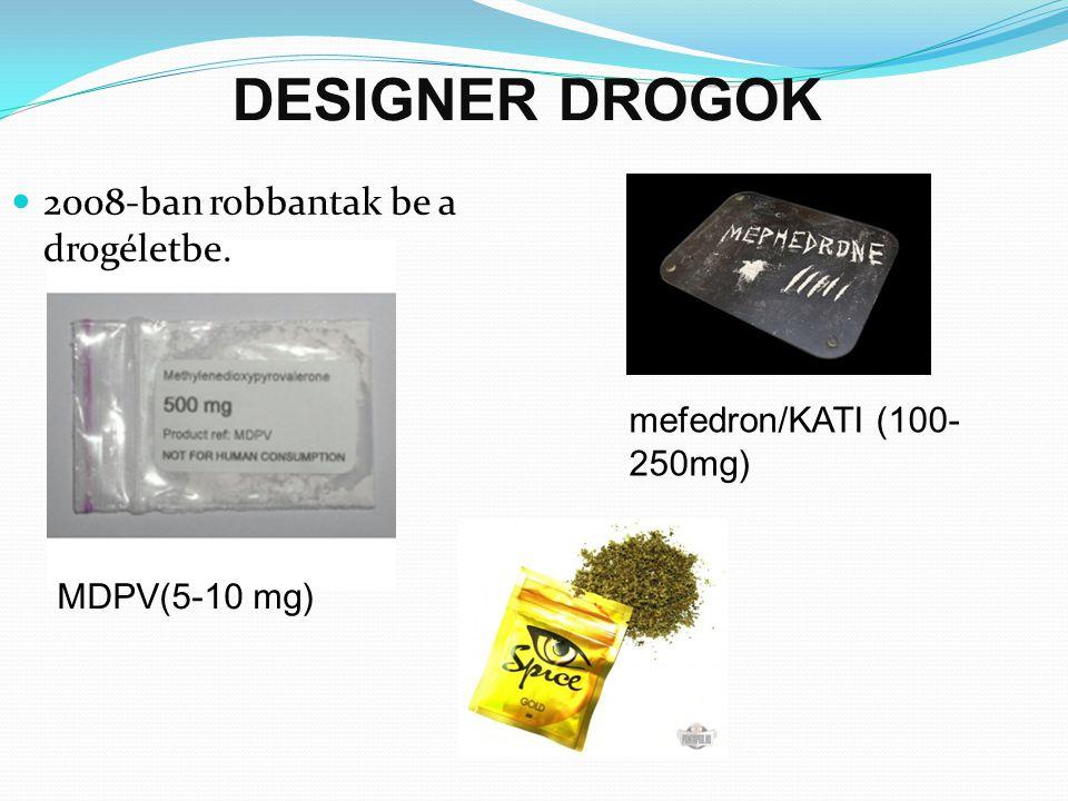 DESIGNER DROGOK 2008-ban robbantak be a drogéletbe.