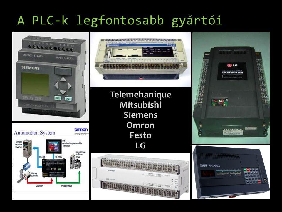 A PLC-k legfontosabb gyártói