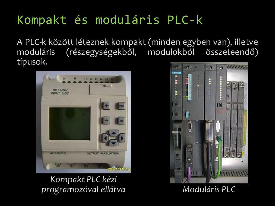 Kompakt és moduláris PLC-k