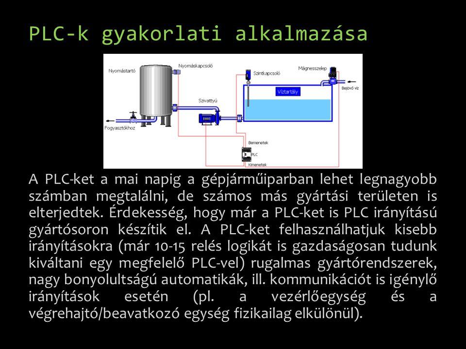 PLC-k gyakorlati alkalmazása