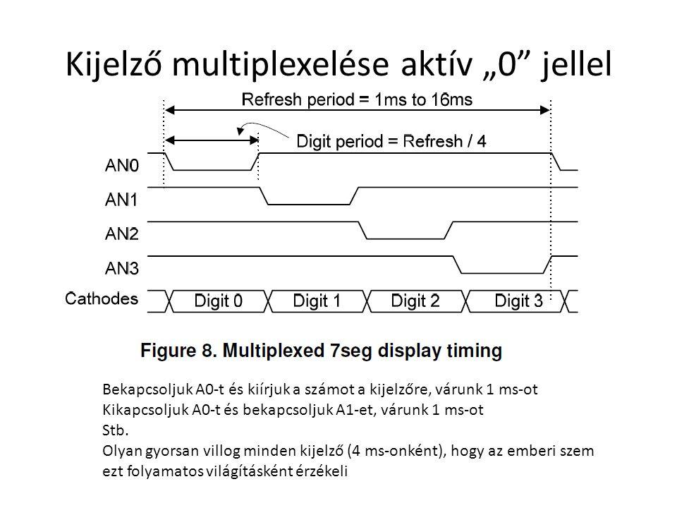 """Kijelző multiplexelése aktív """"0 jellel"""