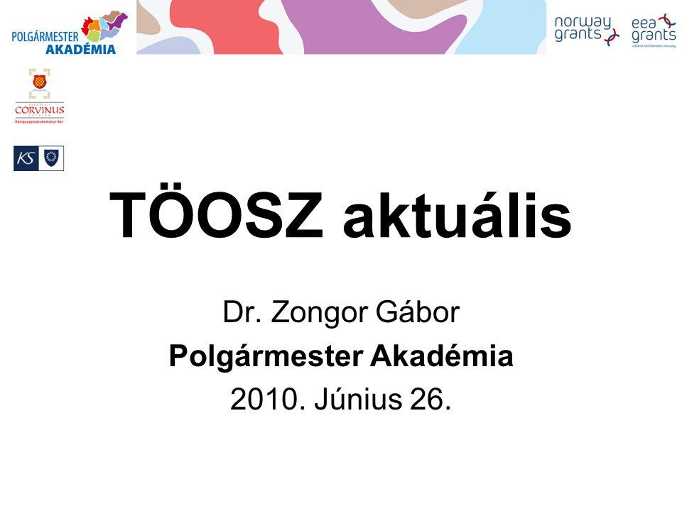 Dr. Zongor Gábor Polgármester Akadémia 2010. Június 26.