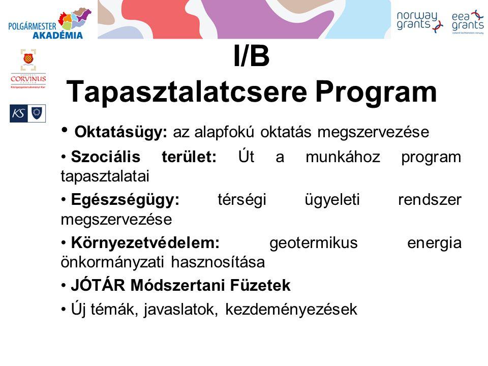 I/B Tapasztalatcsere Program