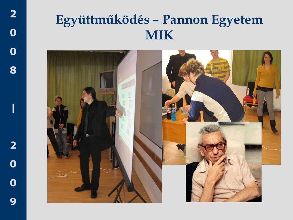 Együttműködés – Pannon Egyetem MIK