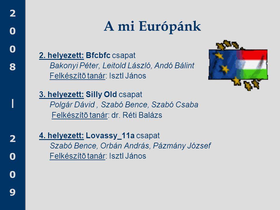 A mi Európánk 2. helyezett: Bfcbfc csapat