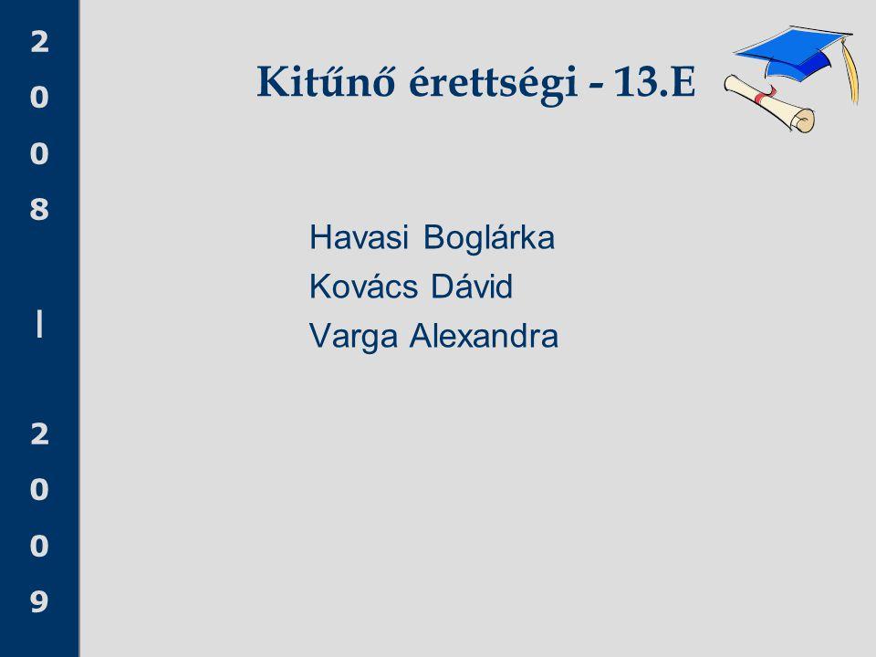 Kitűnő érettségi - 13.E Havasi Boglárka Kovács Dávid Varga Alexandra