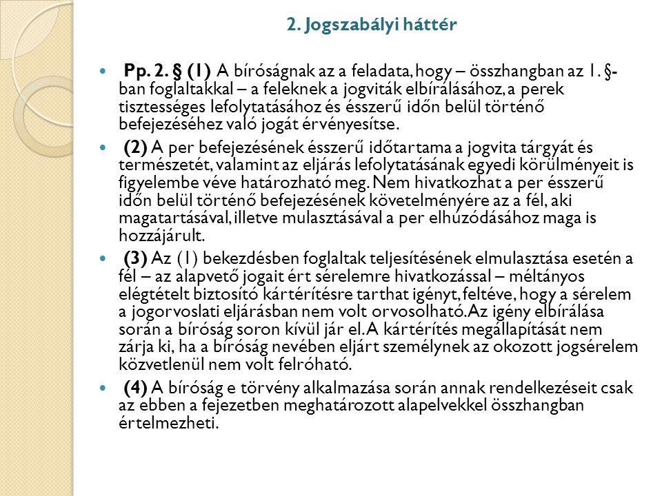 2. Jogszabályi háttér
