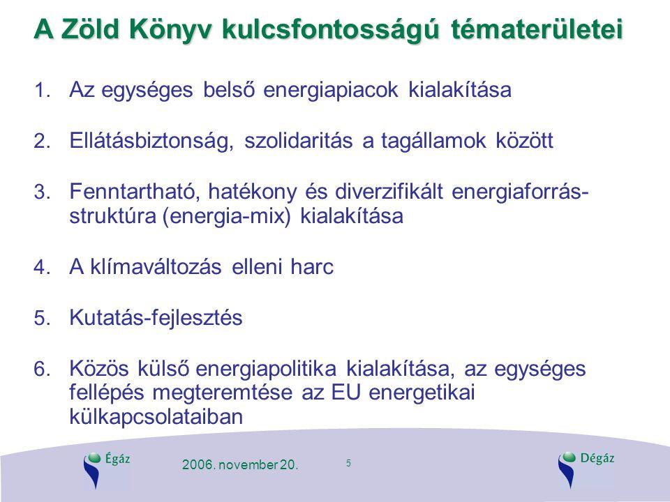 A Zöld Könyv kulcsfontosságú tématerületei