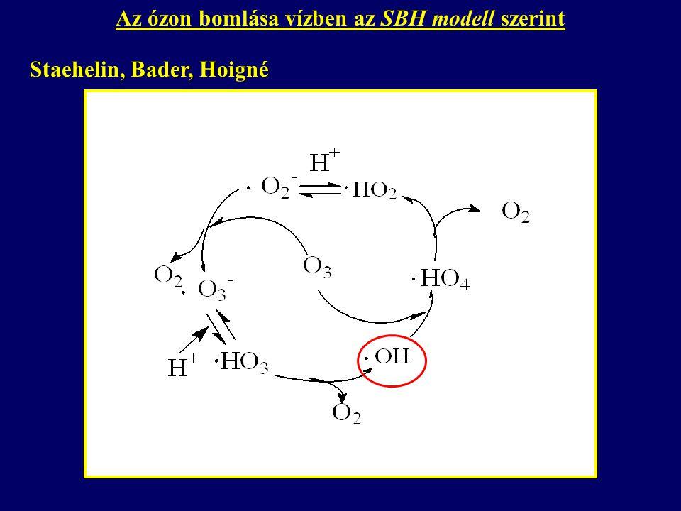 Az ózon bomlása vízben az SBH modell szerint