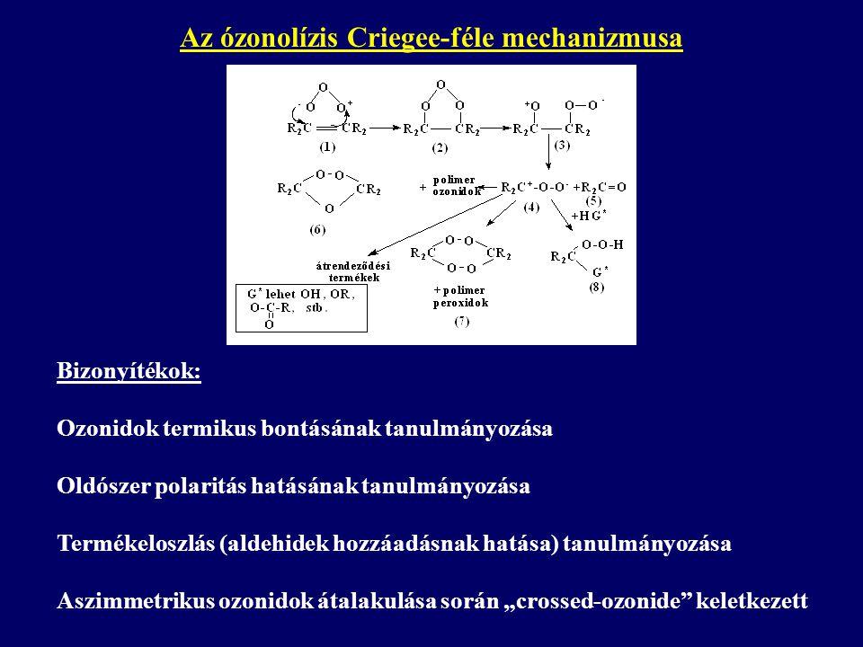 Az ózonolízis Criegee-féle mechanizmusa