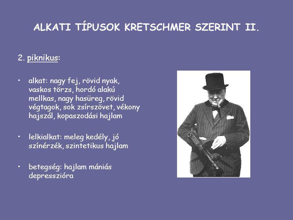 ALKATI TÍPUSOK KRETSCHMER SZERINT II.